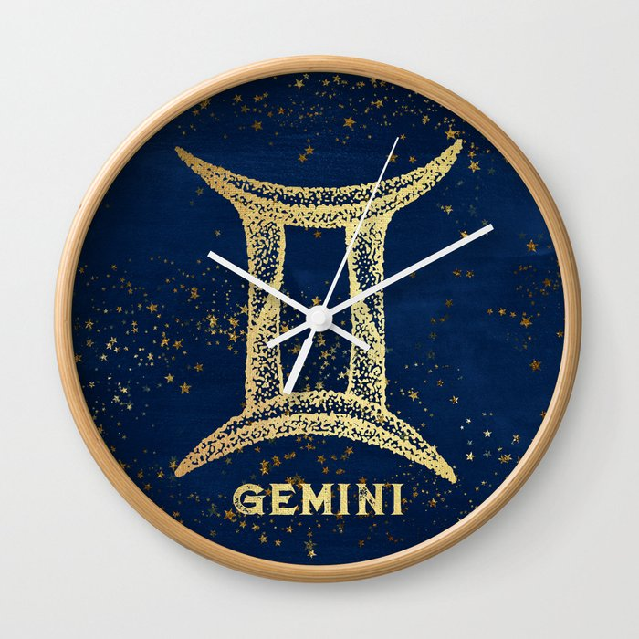 Gemini Zodiac Sign Wall Clock