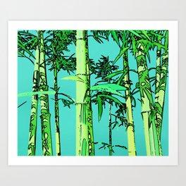 Bamboo cartoonized Art Print