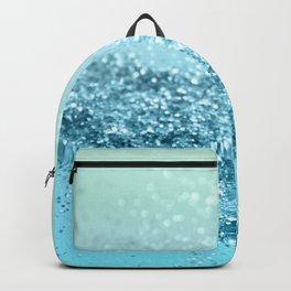 Seafoam Aqua Ocean MERMAID Girls Glitter #3 #shiny #decor #art #society6 Backpack