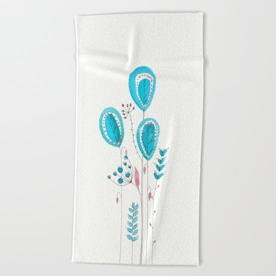 Botanical vibes 12 Beach Towel