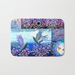 Cherry Blossom Collage Bath Mat