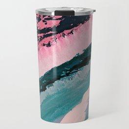 ECHO BEACH BABY | Acrylic abstract art by Natalie Burnett Art Travel Mug