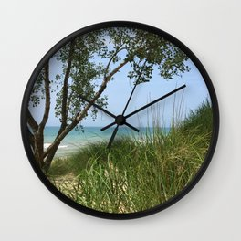 Indiana National Lakeshore Wall Clock