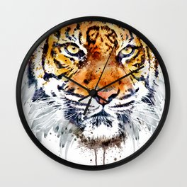Tiger Face Close-up Wall Clock