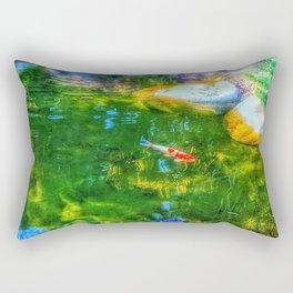 Glowing Reflecting Pond Rectangular Pillow