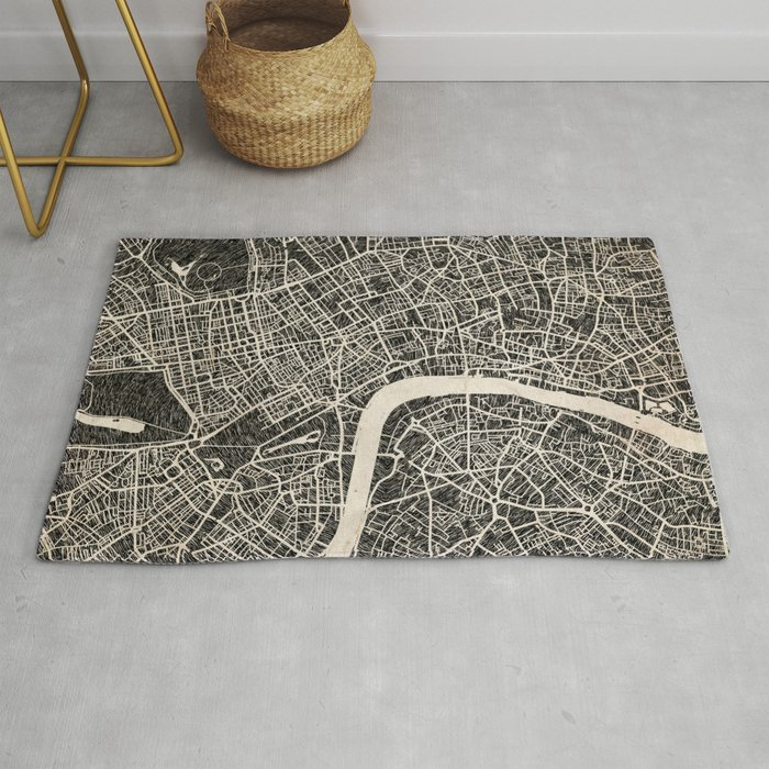 London map Rug by njillustrations on map blanket, map math, map toys, map sheet, map cabinet, map lamp, map decor, map pouf, map quilt, map tile, map storage, map clock, map upholstery, map tree, map bag, map frame, map accessories, map trunk, map furniture, map carpet,