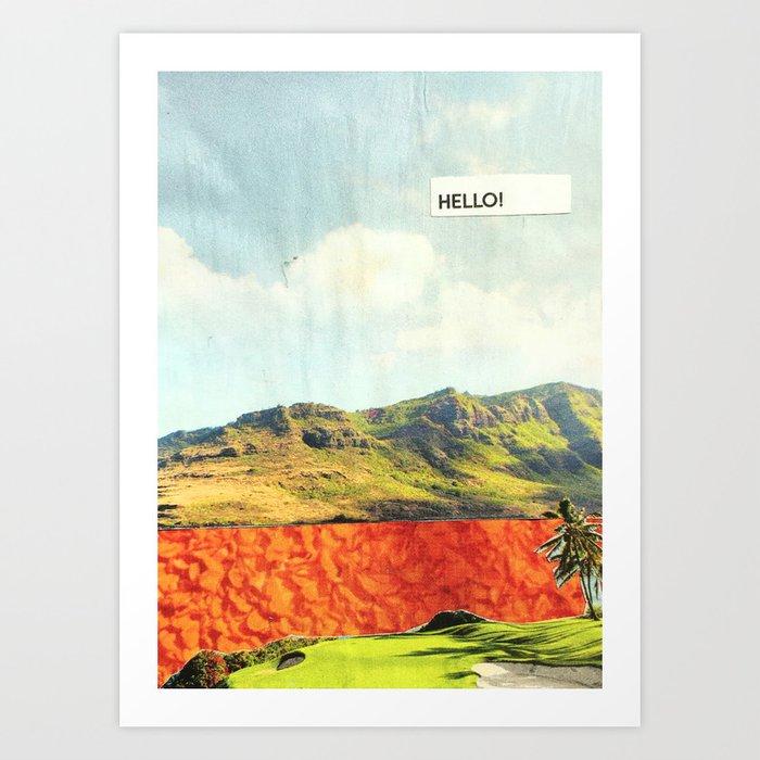 Hello! Art Print