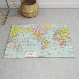 World Map Rug