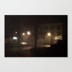Late Night Misty Evening Canvas Print