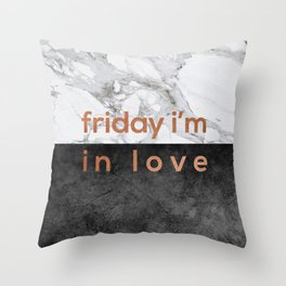 Friday I'm in Love Copper Throw Pillow