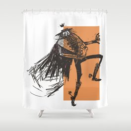 Skeleton Lord Mexican Style Shower Curtain