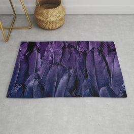 Blue Purple Feathers Rug