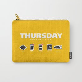 THURSDAY - The Hitchhiker's Guide to the Galaxy Packing List Carry-All Pouch