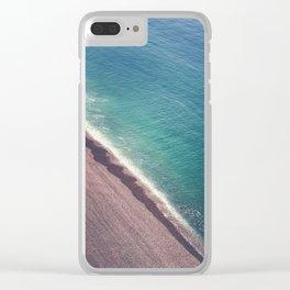 Beach Aerial II Clear iPhone Case