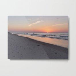 TopSail Beach NC Sunrise Metal Print