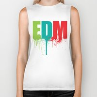 edm Biker Tanks featuring EDM Lover by DropBass