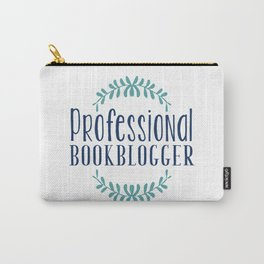 Professional Bookblogger - White w Blue Carry-All Pouch