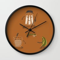 mexican Wall Clocks featuring Mexican Standoff by Lorenzo Cestaro