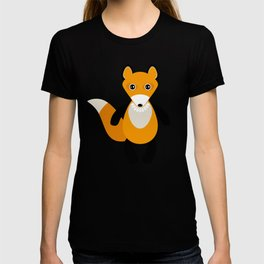 Fox and birds in the forest T-shirt