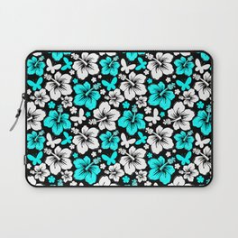 Hibiscus in Blue & White Laptop Sleeve