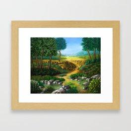 To The River Framed Art Print