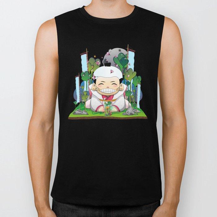 Fukusuke and the magic forest Biker Tank
