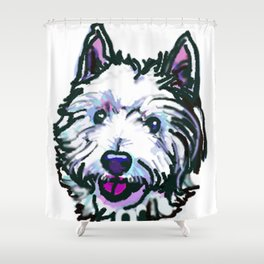 The Westie Dog Love of my Life Shower Curtain
