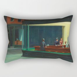 Edward Hopper's Nighthawks Rectangular Pillow
