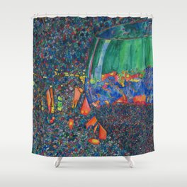 Wine Glass Shower Curtain
