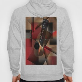 Man in red playing the guitar Hoody