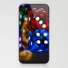 Neon Dice iPhone & iPod Skin