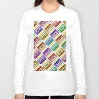 90s Long Sleeve T-shirts featuring 90s pattern by Gabor Nemethi