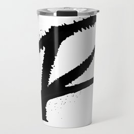 Letter R Ink Monogram Travel Mug