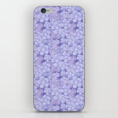 Lilac blue floral pattern . iPhone & iPod Skin