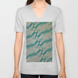 Summer Fern Pattern Unisex V-Neck