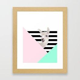 Llamas Amor Geometría Framed Art Print