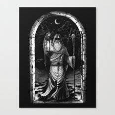 IX. The Hermit Tarot Card Illustration Canvas Print