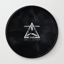 DarkScapes - Circuit Scream Glyph Wall Clock