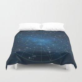Constellation Star Map Duvet Cover