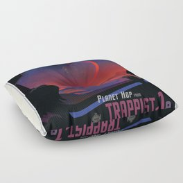 NASA Visions of the Future - Planet Hop from Trappist-1e Floor Pillow