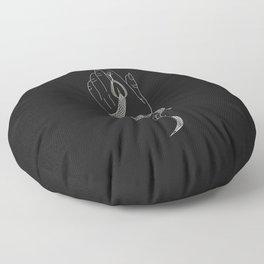 Nostalgia - Snake Illustration Floor Pillow