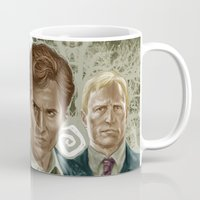 true detective Mugs featuring True Detective I by Valentina Testa