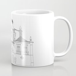 Storks on the Roof - Line Art Coffee Mug
