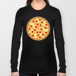 Cool fun pizza pepperoni mushroom Long Sleeve T-shirt