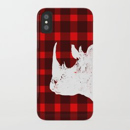 Animals Illustration - Rhinos iPhone Case