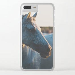 a horse in portrait ... Clear iPhone Case