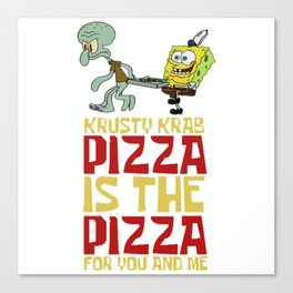 Krusty Krab Pizza Canvas Print