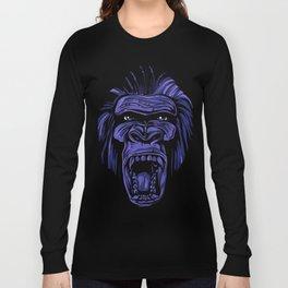 GORILLA KING KONG - Blue Long Sleeve T-shirt
