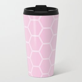 Honeycomb Light Pink #326 Travel Mug