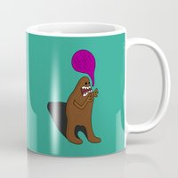bigfoot Mugs featuring Sandy Bigfoot by Chelsea Herrick
